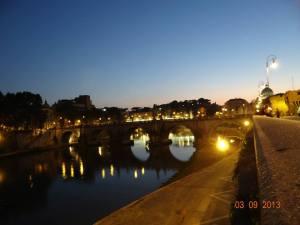 luna de miere Roma seara